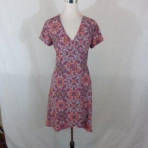 Bobbie Brooks Woman's Paisley Print  Wrap Dress L